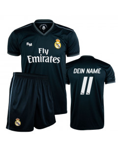 Real Madrid Away Replica Kinder Trikot Komplet Set (Druck nach Wahl +15€)