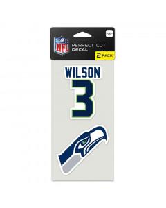 Seattle Seahawks 2x naljepnica Russell Wilson