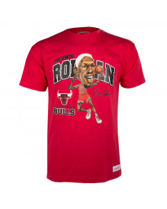 Dennis Rodman 91 Chicago Bulls Mitchell & NessCaricature T-Shirt