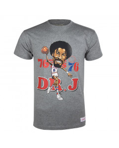 Julius Erving 6 Philadelphia 76ers Mitchell & Ness Caricature majica