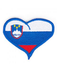 Slovenija našitek srček