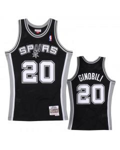 Manu Ginobili 20 San Antonio Spurs 2002-03 Mitchell & Ness Swingman dres
