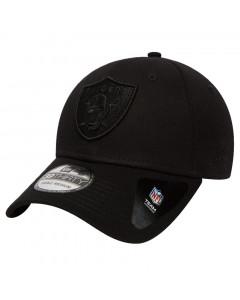 Oakland Raiders New Era 39THIRTY Black On Black kapa