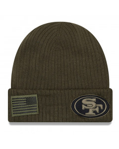 San Francisco 49ers New Era 2018 Salute To Service Sideline Cuff Wintermütze