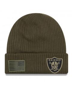 Oakland Raiders New Era 2018 Salute To Service Sideline Cuff Wintermütze