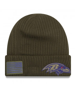 Baltimore Ravens New Era 2018 Salute To Service Sideline Cuff Wintermütze