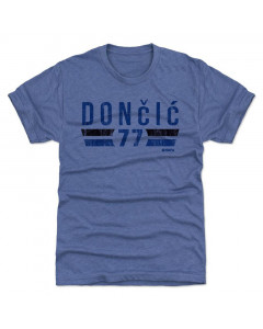 Luka Dončić 500 Level Dallas Font B Tri Royal T-Shirt