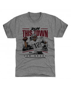 Tom Brady 500 Level Run this town R Tri Gray T-Shirt