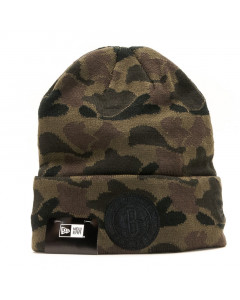 Brooklyn Nets New Era Cuff Marine Navy Camo Wintermütze
