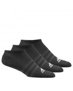 Adidas 3S 3x No-show niske sportske čarape crne