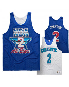 Larry Johnson 2 Charlotte Hornets All Star 1993 Mitchell & Ness obojestranski Mesh Tank Top