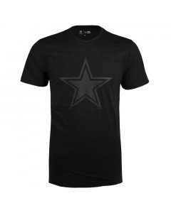 Dallas Cowboys New Era Tonal Black Logo T-Shirt