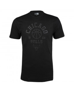 Chicago Bulls New Era Tonal Black Logo T-Shirt