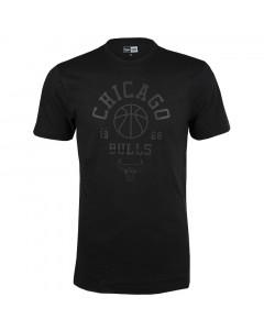 Chicago Bulls New Era Tonal Black Logo T-Shirt