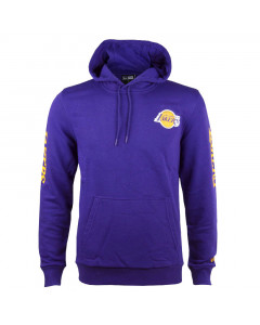 Los Angeles Lakers New Era Sleeve Wordmark pulover s kapuco