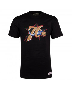 Philadelphia 76ers Mitchell & Ness Pushed Logo T-Shirt