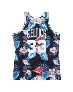 Larry Bird 33 Boston Celtics 1985-86 Mitchell & Ness Swingman Floral Black dres