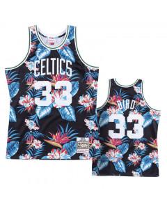 Larry Bird 33 Boston Celtics 1985-86 Mitchell & Ness Swingman Floral Black dres