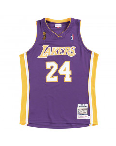 Kobe Bryant 24 Los Angeles Lakers 2008-09 Mitchell & Ness Authentic Road Finals dres
