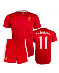 Salah 11 Liverpool Poly Kinder Training Trikot Komplet