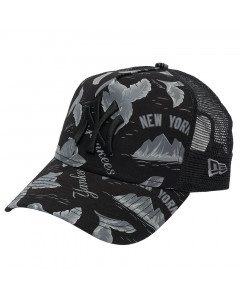 New York Yankees New Era A Frame Trucker Desert Island Mütze