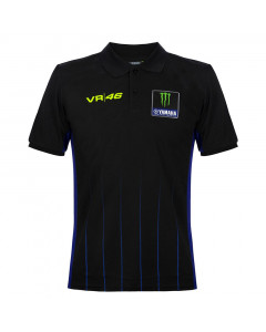 Valentino Rossi VR46 Yamaha Monster Black polo majica