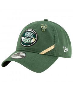 Milwaukee Bucks New Era 9TWENTY 2019 NBA Draft Authentics kačket