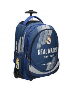 Real Madrid Trolley Schulrucksack auf Rädern