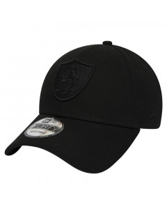 Oakland Raiders New Era 9FORTY Black on Black kapa