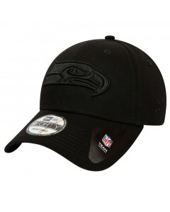 Seattle Seahawks New Era 9FORTY Black on Black kapa