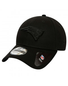 New England Patriots New Era 9FORTY Black on Black Mütze