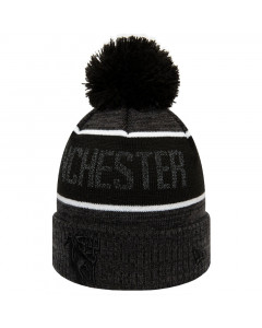 Manchester United New Era Reflect Grey Bobble Cuff Wintermütze