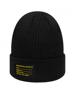 Manchester United New Era Patch Tag Black Wintermütze