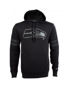 Seattle Seahawks New Era Tonal Black pulover sa kapuljačom