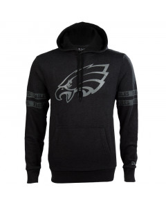 Philadelphia Eagles New Era Tonal Black pulover sa kapuljačom