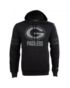 Green Bay Packers New Era Tonal Black Kapuzenpullover