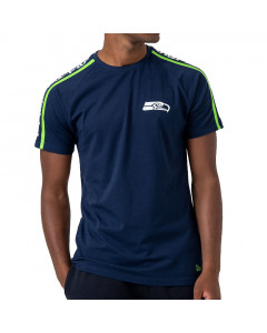 Seattle Seahawks New Era Raglan Shoulder Print T-Shirt