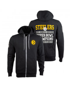 Pittsburgh Steelers New Era Large Graphic zip majica sa kapuljačom