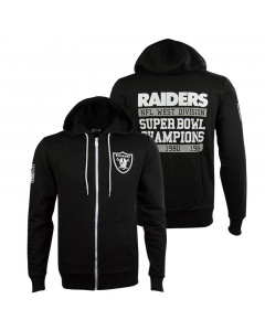 Oakland Raiders New Era Large Graphic zip majica s kapuljačom