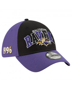 Baltimore Ravens New Era 39THIRTY 2019 NFL Official Sideline Home 1996s Mütze