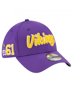Minnesota Vikings New Era 39THIRTY 2019 NFL Official Sideline Home 1961s kačket