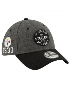 Pittsburgh Steelers New Era 39THIRTY 2019 NFL Official Sideline Home 1933s Mütze