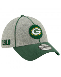 Green Bay Packers New Era 39THIRTY 2019 NFL Official Sideline Home 1919s kačket