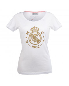 Real Madrid White Damen T-Shirt N°16