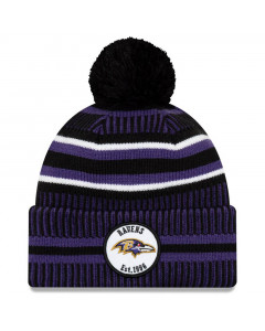 Baltimore Ravens New Era 2019 NFL Official On-Field Sideline Cold Weather Home Sport 1996 Wintermütze