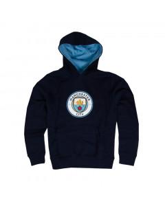 Manchester City Crest otroški pulover s kapuco