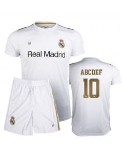 Real Madrid Poly Kinder Training Trikot Komplet Set (Druck nach Wahl +15€)