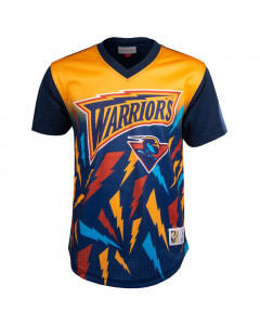 Golden State Warriors Mitchell & Ness Game Winning Shot Mesh V-Neck T-Shirt