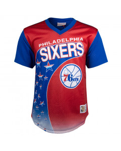 Philadelphia 76ers Mitchell & Ness Game Winning Shot Mesh V-Neck T-Shirt