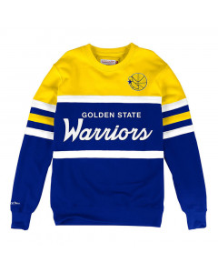 Golden State Warriors Mitchell & Ness Head Coach Crew Pullover